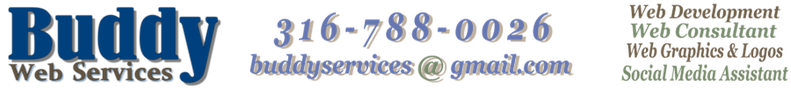 Buddy Web Services Logo and Contact