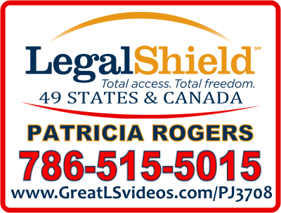 Legal Shield Rep - Patricia Rogers, So. Florida