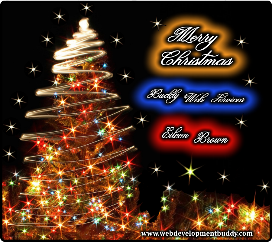 Merry Christmas from Buddy Web Services and Eileen Brown in Wichita and Derby KS
